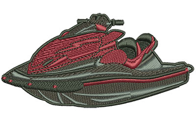 Embroidery Design: Ride On Jet Ski Lg 3.99w X 1.94h