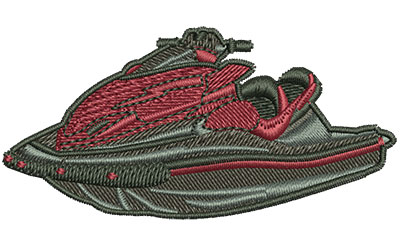 Embroidery Design: Ride On Jet Ski Sm 2.98w X 1.46h