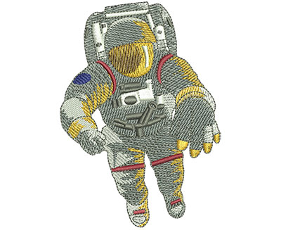 Embroidery Design: Astronaut In Space Lg 2.85w X 4.01h