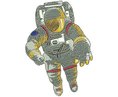 Embroidery Design: Astronaut In Space Med 2.50w X 3.51h