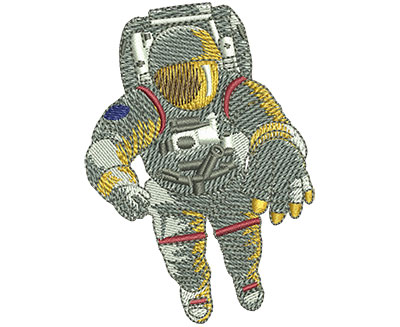 Embroidery Design: Astronaut In Space Sm 2.14w X 3.00h