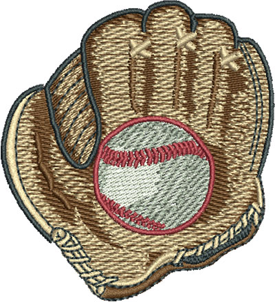 Embroidery Design: Baseball In Mitt Sm 2.71w X 2.99h