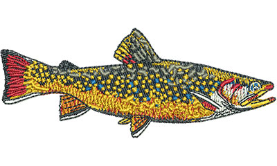 Embroidery Design: Brook Trout Sm 3.49w X 1.40h