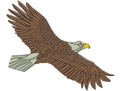 Embroidery Design: Flying Eagle Lg 4.50w X 3.79h