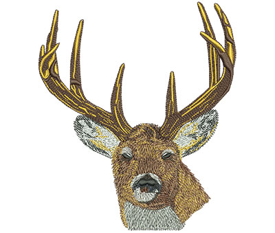 Embroidery Design: Deer Head Stare Lg 5.20w X 6.01h