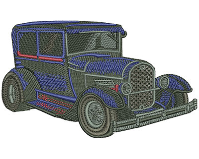 Embroidery Design: Blue Ford Lg 4.55w X 2.74h