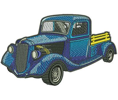 Embroidery Design: Classic Truck Lg 4.52w X 2.79h