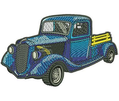 Embroidery Design: Classic Truck Sm 3.52w X 2.17h