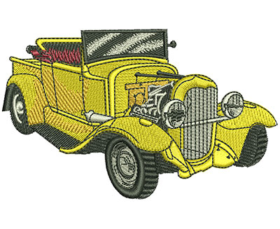 Embroidery Design: Ford Convertible Med 4.02w X 2.48h