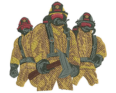 Embroidery Design: Firefighter Maltese Cross Med 3.97w X 3.66h