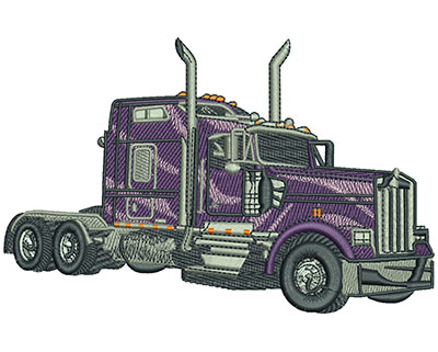 Embroidery Design: Big Rig Lg 6.04w X 3.86h