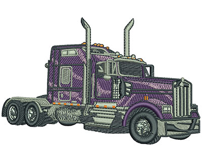 Embroidery Design: Big Rig Med 5.03w X 3.22h