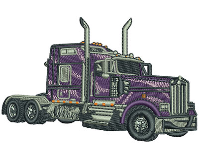 Embroidery Design: Big Rig Sm 4.04w X 2.58h
