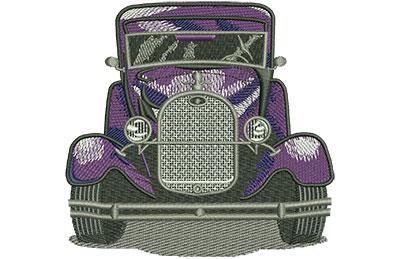 Embroidery Design: Purple Car Lg 4.39w X 4.22h