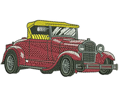 Embroidery Design: Ford Hot Rod Sm 3.53w X 1.71h