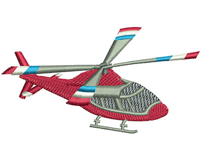 Embroidery Design: Helicopter Lg 3.49w X 1.88h
