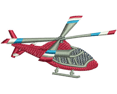 Embroidery Design: Helicopter Sm 2.49w X 1.35h