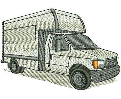 Embroidery Design: Moving Van Lg 3.50w X 2.40h