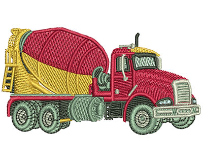 Embroidery Design: Cement Truck Med 3.00w X 1.62h