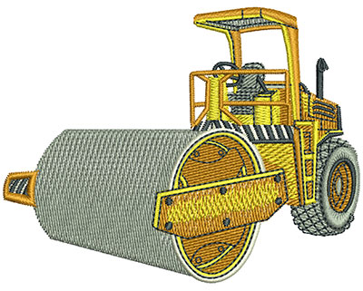 Embroidery Design: Steam Roller Lg 4.51w X 3.49h
