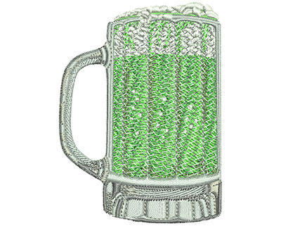 Embroidery Design: Green Beer Mug Lg 2.58w X 3.51h