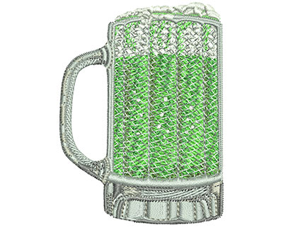 Embroidery Design: Green Beer Mug Med 2.22w X 3.01h