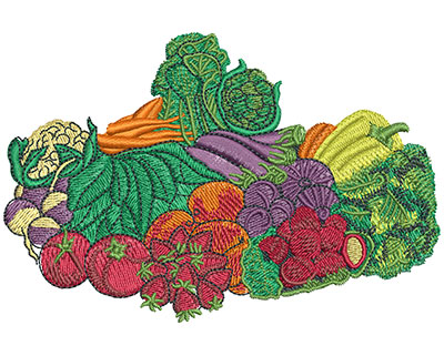 Embroidery Design: Farmers Market Lg 4.51w X 2.99h