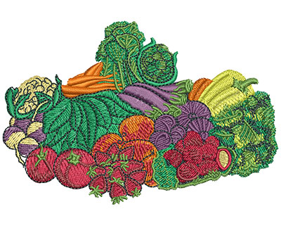 Embroidery Design: Farmers Market Med 3.99w X 2.65h