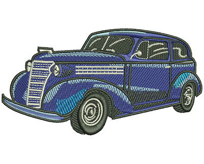 Embroidery Design: Blue Classic Lg 4.52w X 2.40h