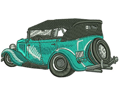 Embroidery Design: Classic Convertible Lg 4.46w X 2.24h