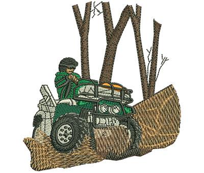 Embroidery Design: Quad Hunter Sm 3.25w X 3.50h