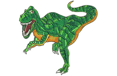 Embroidery Design: Velociraptor Lg 4.23w X 4.00h