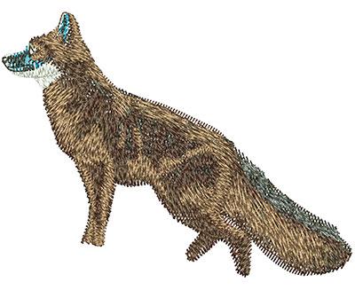 Embroidery Design: Fox Lg 3.98w X 3.02h