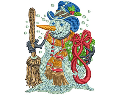 Embroidery Design: Holiday Snowman Sm 2.27w X 3.00h