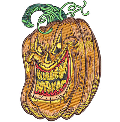 Embroidery Design: Laughing Pumpkin Lg 4.01w X 6.02h