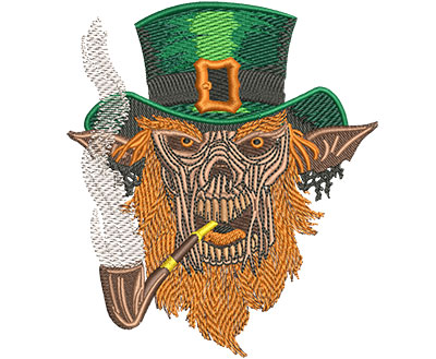 Embroidery Design: Leprechaun Demon Lg 3.94w X 4.51h