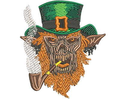 Embroidery Design: Leprechaun Demon Sm 3.06w X 3.51h