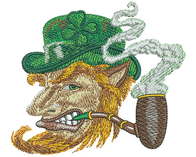 Embroidery Design: Leprechaun Profile Med 3.96w X 3.49h