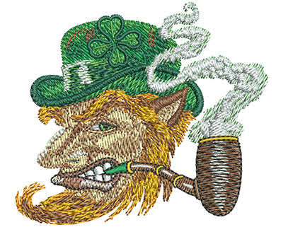 Embroidery Design: Leprechaun Profile Sm 3.00w X 2.65h