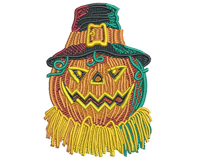 Embroidery Design: Pumpkin With Hat Med 2.43w X 3.45h