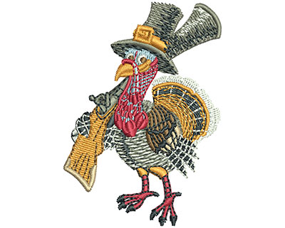 Embroidery Design: Turkey Shoot Sm 2.50h X 1.76w