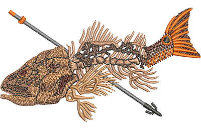 Embroidery Design: Bowfishing Red Sm 3.51w X 1.99h