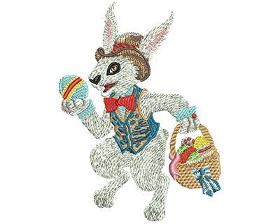 Embroidery Design: Easter Bunny Lg 3.32w X 4.51h