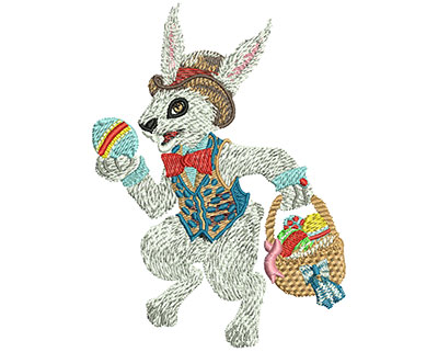 Embroidery Design: Easter Bunny Med 2.93w X 3.99h