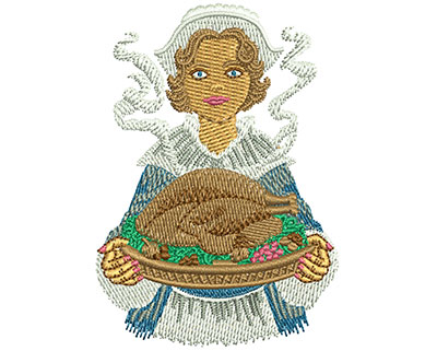 Embroidery Design: Pilgrim Serving M 3.05H X 2.14W