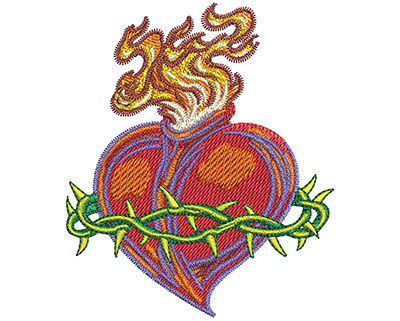 Embroidery Design: Sacred Heart Lg 2.99w X 3.51h