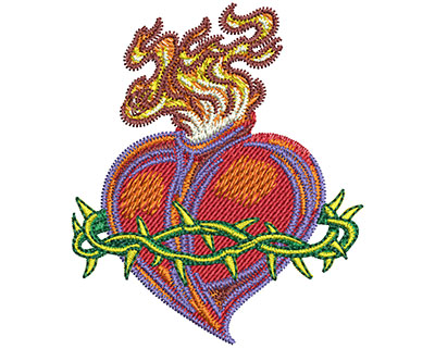 Embroidery Design: Sacred Heart Sm 2.14w X 2.51h
