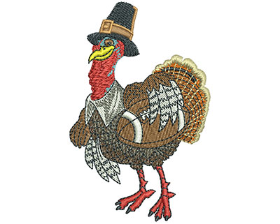 Embroidery Design: Turkey Day Football Lg 2.24w X 3.50h