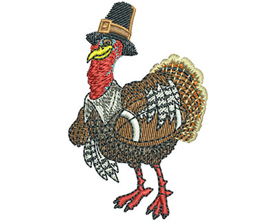 Embroidery Design: Turkey Day Football Sm 1.60w X 2.50h