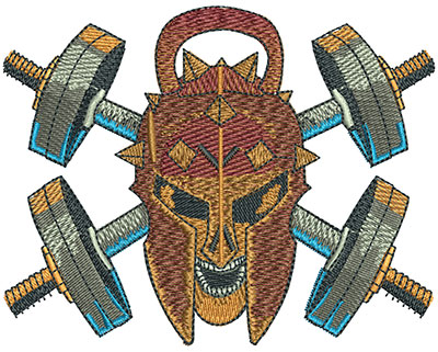 Embroidery Design: Spartan Weights Med 4.00w X 3.15h